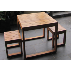 Plantation 3 Piece Table Setting - 2 Seater