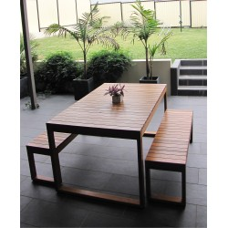 Plantation Slimline Table Setting - 6 Seater