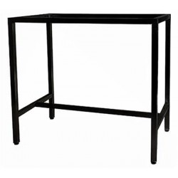 Barcelona 1200x700 Table Frame Black (Bar Height)