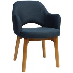 Albury Premium Fabric Armchair with Timber Legs