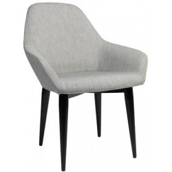 Bronte Premium Fabric Armchair with Metal Legs