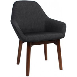 Bronte Premium Fabric Armchair with Timber Legs