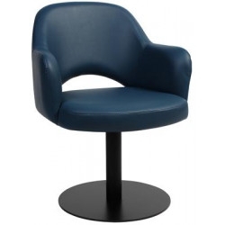Albury Premium Vinyl Armchair with Black Disc Base