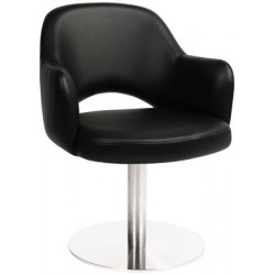 Albury Premium Vinyl Armchair with S/S Disc Base