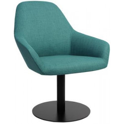 Bronte Premium Fabric Armchair with Black Disc Base