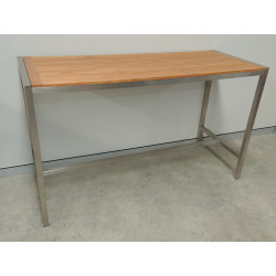 Titan Stainless Steel & Teak Table (Bar Height)
