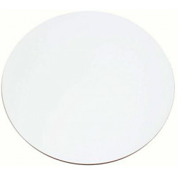 50cm Round Compact Laminate Table Top - Flat Finish