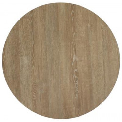 60cm Round Compact Laminate Table Top - Textured Finish