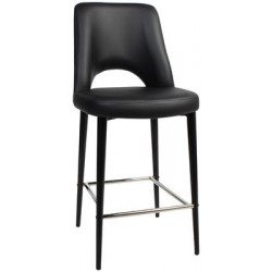Albury Premium Vinyl 650 Stool with Black Metal Legs