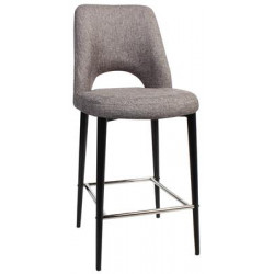Albury Premium Fabric 650 Stool with Black Metal Legs