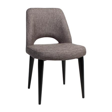 Albury Premium Fabric Side Chair with Metal Legs