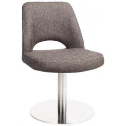 Albury Premium Fabric Side Chair with S/S Disc Base