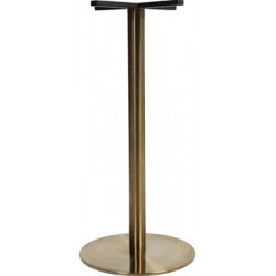 Rome 450 Round Table Base - Brass (Bar Height)
