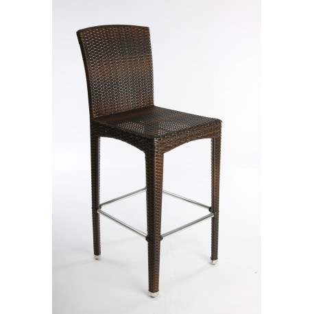Moon Wicker Stool with Back
