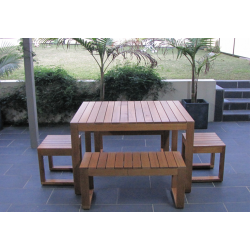 Plantation 5 Piece Table Setting - 6 Seater