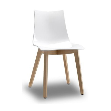Zebra Chair with Timber Legs