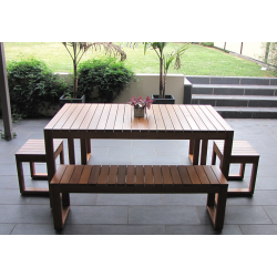 Plantation 5 Piece Table Setting - 8 Seater