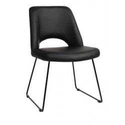 Albury Premium Vinyl Side Chair with Sled Base