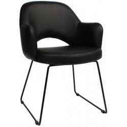 Albury Premium Vinyl Armchair with Sled Base