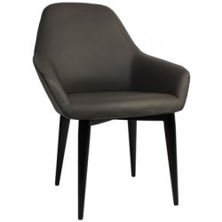 Bronte Premium Vinyl Armchair with Metal Legs