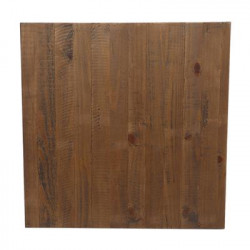 80cm Square Solid Timber Rustic Table Top