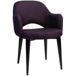 Albury Premium Fabric Armchair with Black Metal Legs