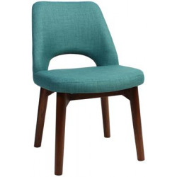 Albury Premium Fabric Side Chair with Timber Legs