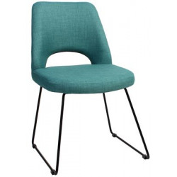 Albury Premium Fabric Side Chair with Sled Base