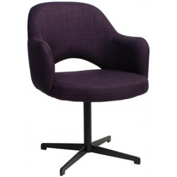 Albury Premium Fabric Armchair with Black Blade Frame