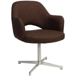 Albury Premium Fabric Armchair with S/S Blade Frame
