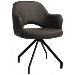 Albury Premium Vinyl Armchair with Black Trestle Frame