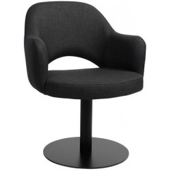Albury Premium Fabric Armchair with Black Disc Base