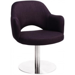Albury Premium Fabric Armchair with S/S Disc Base