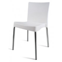 Saxton Dining Chair with Chrome Frame