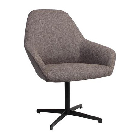 Bronte Premium Fabric Armchair with Black Blade Frame