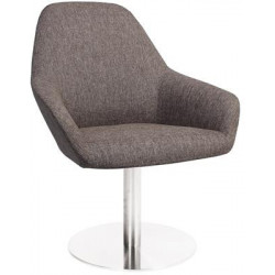 Bronte Premium Fabric Armchair with S/S Disc Base