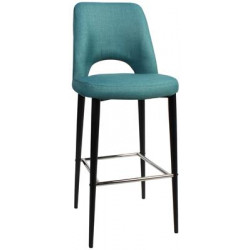 Albury Premium Fabric 750 Stool with Black Metal Legs