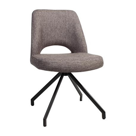 Albury Premium Fabric Side Chair with Black Trestle Frame