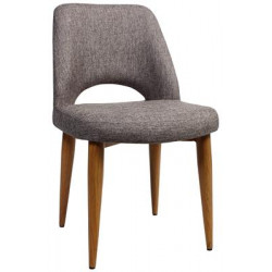Albury Premium Fabric Side Chair with Timber Look Metal Legs