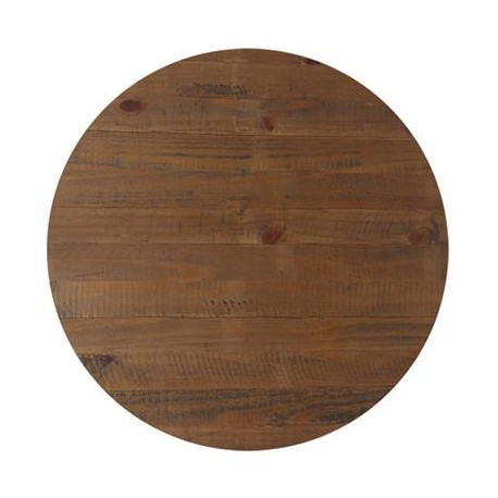 70cm Round Solid Timber Rustic Table Top
