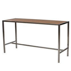 Australian Made Stainless Steel & Teak Table (Bar Height)