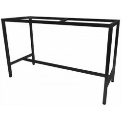 Barcelona 1800x700 Table Frame Black (Bar Height)