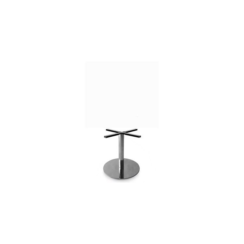 Round Stainless Base Coffee Height Tables: Prague 400 Round Table Base (Coffee Height)