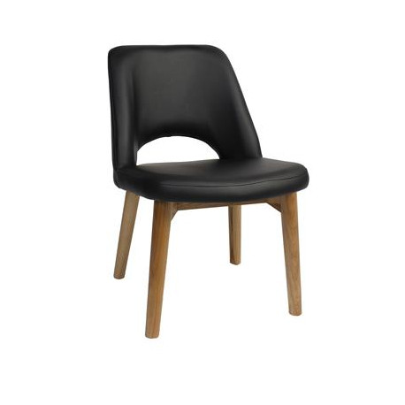 Albury Side Chair with Timber Legs