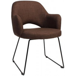 Albury Premium Fabric Armchair with Sled Base