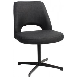 Albury Premium Fabric Side Chair with Black Blade Frame