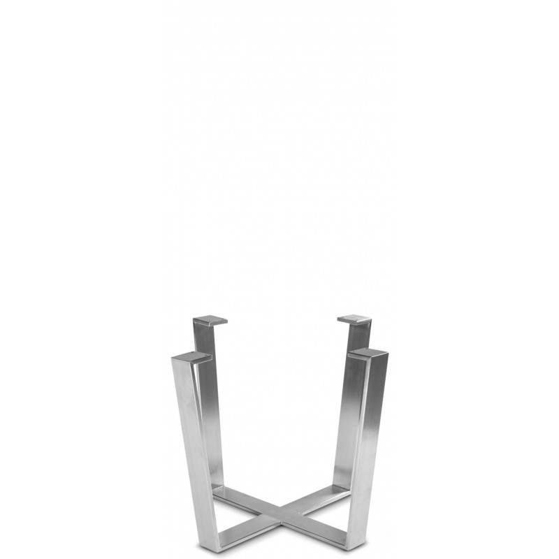 Round Stainless Base Coffee Height Tables: Stainless Steel (Coffee Height