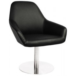 Bronte Premium Vinyl Armchair with S/S Disc Base