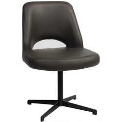 Albury Premium Vinyl Side Chair with Black Blade Frame