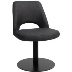 Albury Premium Fabric Side Chair with Black Disc Base